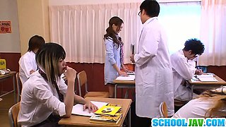 Sexy Yukina Momota enjoys massive school orgy