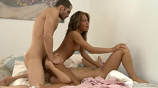 Such a perfect MFF threesome is what both slender babes thirst for