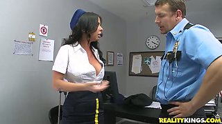 Busty babe Brandy Aniston is finger fucked before blowjob
