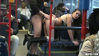 Hardcore public sex in the public buss with Bonnie