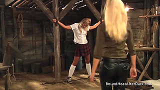 Slaves Homecoming: Mistress Plays With Slave In Chains