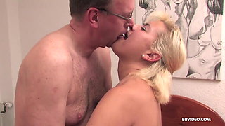 Horny mature couple fuck doggy like in '69