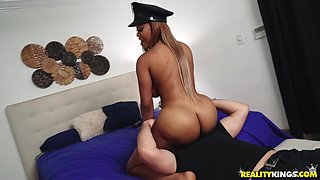 Moriah Mills is a curvy policewoman in need of a throbbing cock