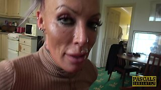 Sweet girl Brooke Jameson gets talked into fucking with him hard