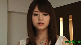 Japanese office cutie provides her vagina to her boss