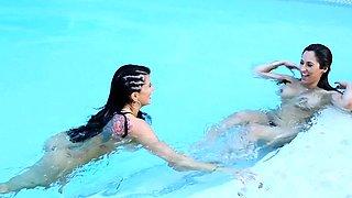 Crush Girls - Romi Rain and Reena Sky fuck in the pool
