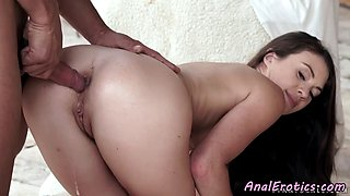 Bigass euro beauty anally banged by fat cock