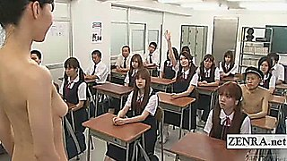 Subtitles CFNM Japan milf teacher strips