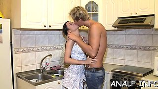 Sensuak young blond works strapon like an anal pro