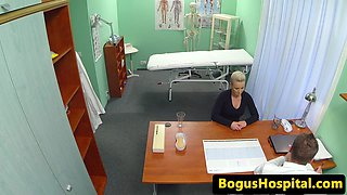 Busty patient beauty creampied by doctor