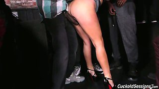 Real whore Jennifer White gets her holes drilled really hard by black studs