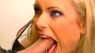 Hot and horny blonde bitch Brianna Banks  fucks a dude in gas mask