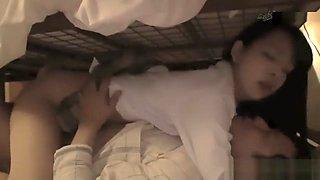 Jav Idol Abe Mikako Fucked Under Bed Whilst Guys Wife Is Sleeping On Top