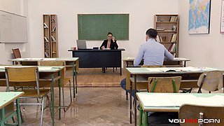 YOUMIXPORN Busty Teacher Cathy Heaven fucks horny student