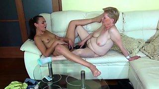 Horny Granny Marie in Lesbian Porn