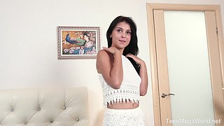 Endlessa Vitality masturbates on the bed using her fingers and a dildo