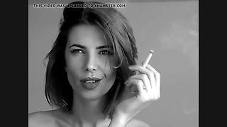 Charming sexy girl smoking