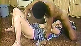 Horny redhead white housewife wants to suck big hairy black dick