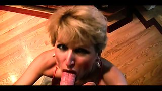 Buxom blonde mom with a perfect ass gets rammed from behind