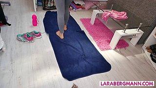 GERMAN lara bergmann private workout at home NINCE