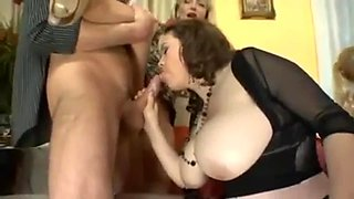 Orgy With Swedish Milfs at a party