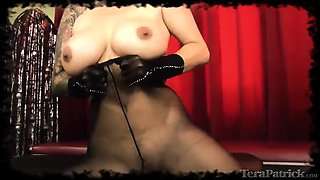 a tempting solo scene with tera patrick wearing pantyhose