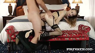 Belle Claire Takes a Creampie in a Mansion
