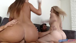 bffs arya faye and jill cassidy fuck each other's hot stepdads