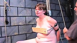 Lusty lovely girlfriend is using her milk sacks