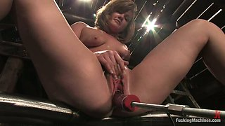 Cassidy Essence gets her holes slammed by a fucking machine