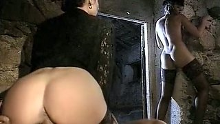 Bootylicious Deborah Wells and Cindy Wilson suck dick in the cave
