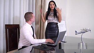 Big tits brunette slut babe fucked in office HD