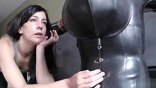 Rubber and bondage submission Elis Graves