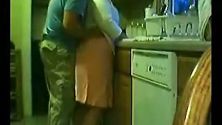 BBW Indian mom gets fucked doggy style in the kitchen