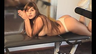 Mariah Spice posing in her panties
