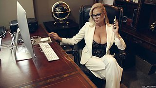 Kelly Madison is a horny businesswoman craving an orgasm