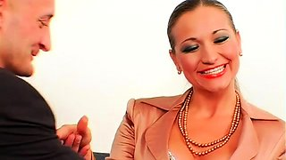 Sadomasochism festish with mistress spanking her serf hard