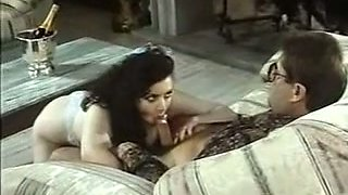 Sensual and hot brunette busty babe receives cunnilingus and rimjob