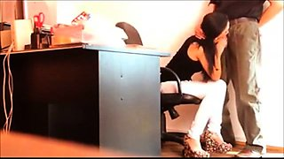 secretary blowjob spy cam