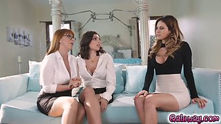 vanessa wants to see penny suck on darcie's big breasts