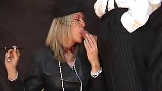 Crystal's Smoking Blowjob with holder