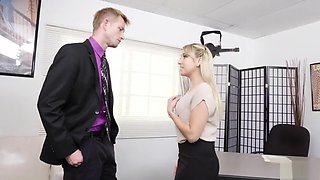 Ass Blond Secretary Valerie Exploited By Her Boss