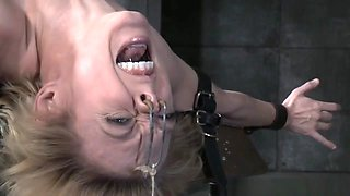 Busty Machine Fucked Bdsm Cunt Dripping Juice