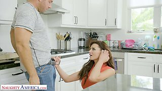 Horny dude can't resist fucking smoking hot stepmom Becky Bandini