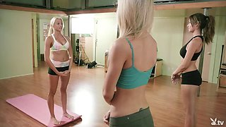 Yoga lessons with huge boobs Khloe Terae