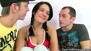 Brutal defloration for teen babe Luba.
