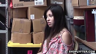 stealing latina teen employee does everything to keep her job