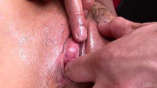 Oiled Up Milf Gets Fingered