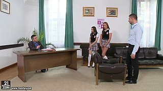 Cute little slutty schoolgirl punished hard by her teacher