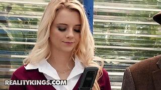 Teens love Huge COCKS - Riley Star Jmac - Bus Bench Biddie